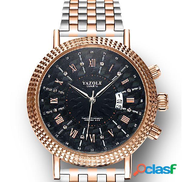Reloj de cuarzo de acero inoxidable Impermeable para hombres