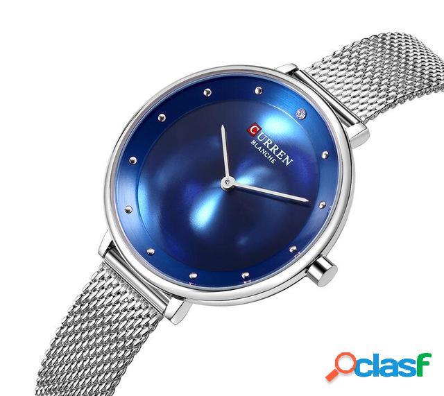 Reloj de cuarzo de acero inoxidable de malla de reloj de