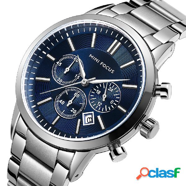 Reloj de cuarzo de acero inoxidable para hombres
