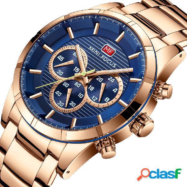 Reloj de pulsera de acero inoxidable para hombres de