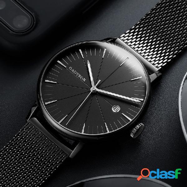 Reloj de pulsera de cuarzo, acero, reloj de pulsera, reloj