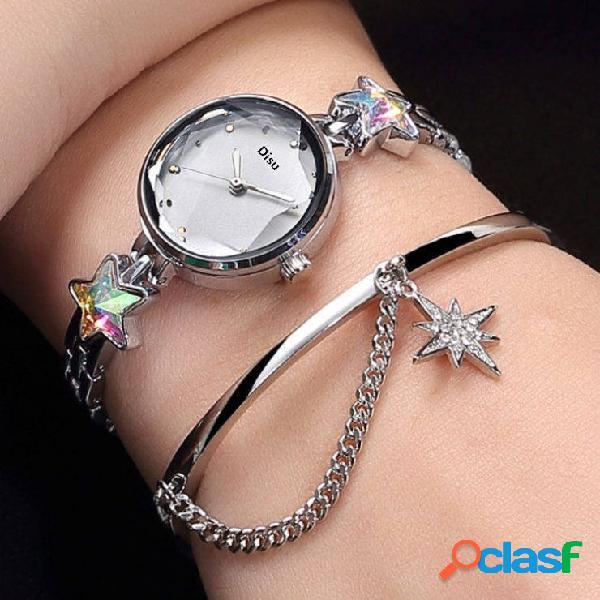 Reloj de pulsera de cuarzo de moda Lucky Star Colgante Reloj