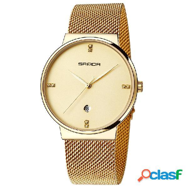 Reloj de pulsera de cuarzo para hombre Reloj redondo de