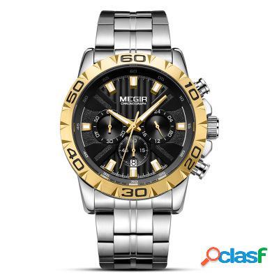 Reloj de pulsera de lujo de negocios de acero inoxidable