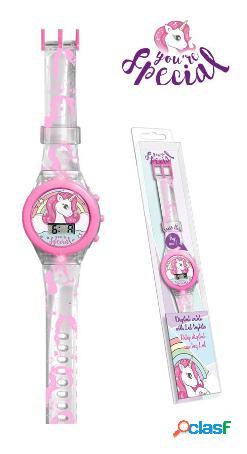 Reloj de pulsera unicornio con luz
