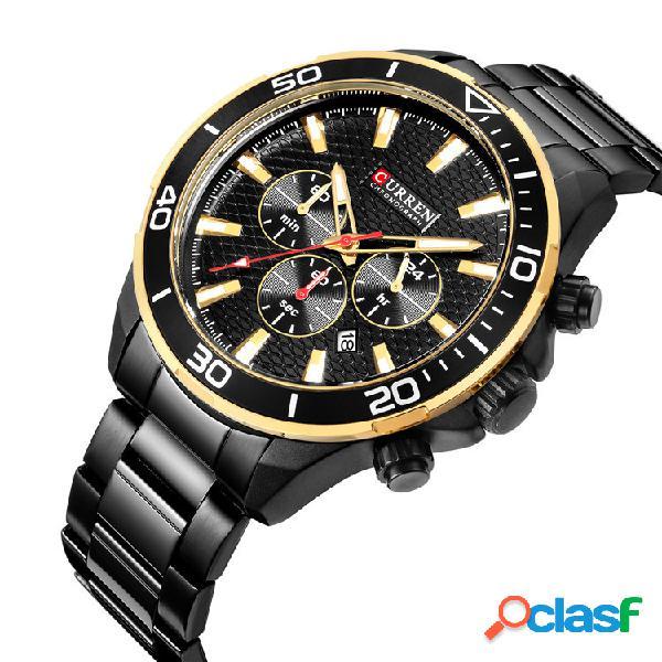 Reloj impermeable de cuarzo de acero inoxidable para hombres