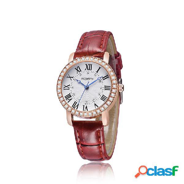 Relojes de pulsera de cuero de cuarzo casual Classic