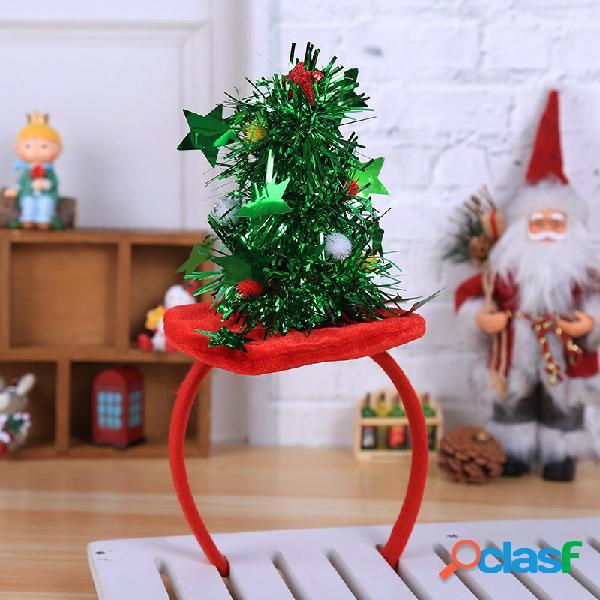 Rojo y verde Navidad Cabello Accesorio Diadema Cinco