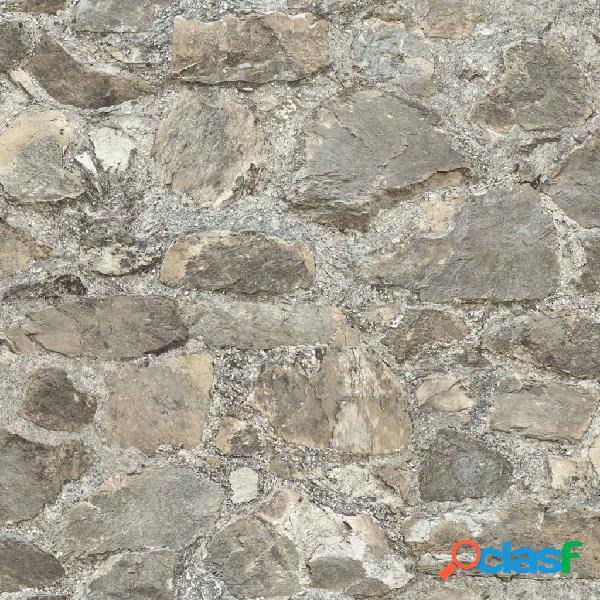 RoomMates Papel de pared adhesivo de piedra desgastada gris