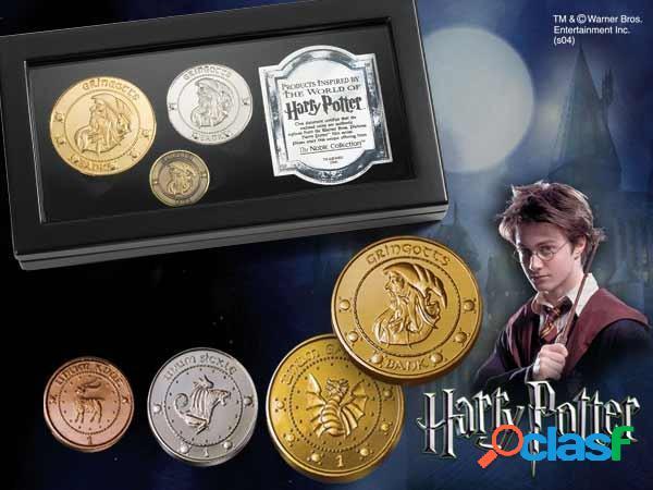 Réplica Set de Monedas Harry Potter El Banco Gringotts