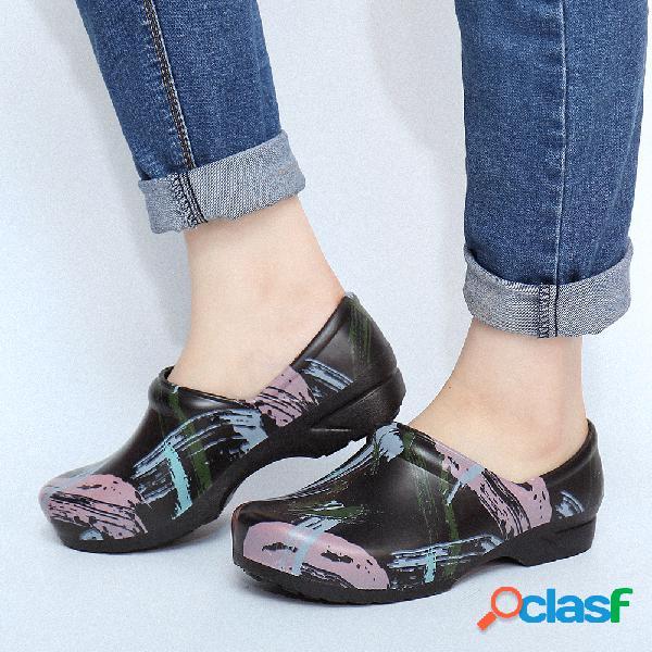 SOCOFY Zapatos planos de trabajo antideslizantes para