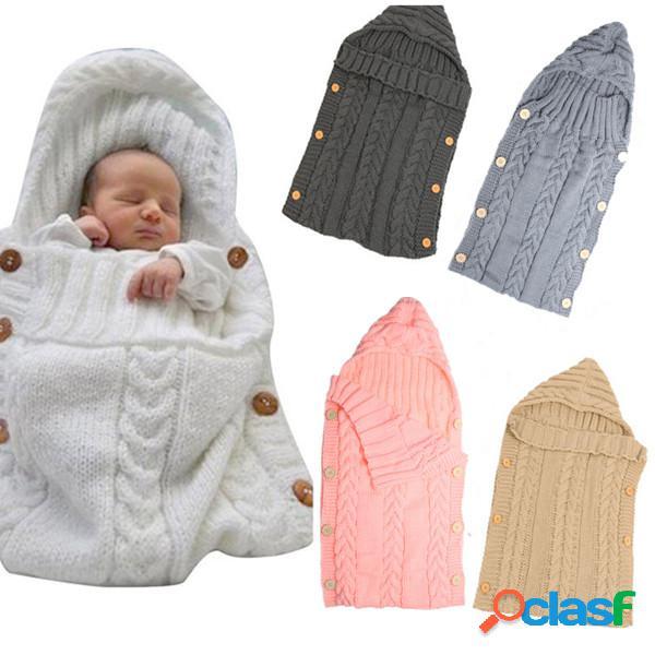 Saco de dormir de punto de lana con capucha de 70 * 35 cm