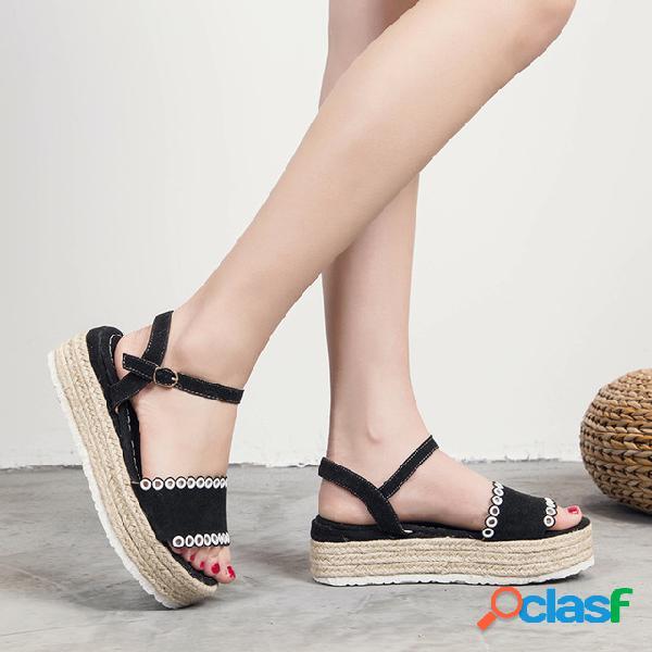 Sandalias de gran tamaño para mujer Zapatos de mujer nuevos