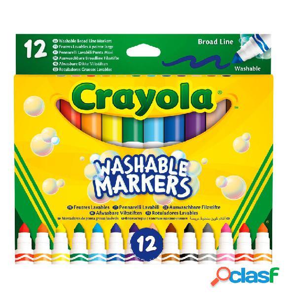 Set 12 Rotuladores lavables Maxi Punta Crayola