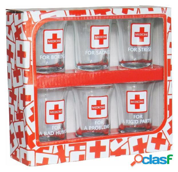 Set 6 Vasos de Chupitos Medicinas