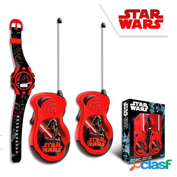Set Walkie Talkies + Reloj Star Wars.