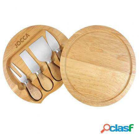 Set de tabla y cuchillos para queso jocca 5182 - diametro