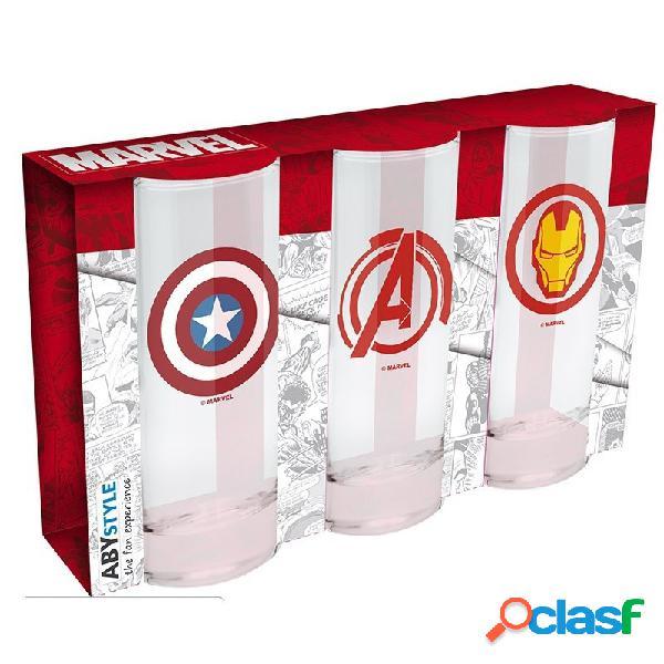 Set vasos de tubo Avengers