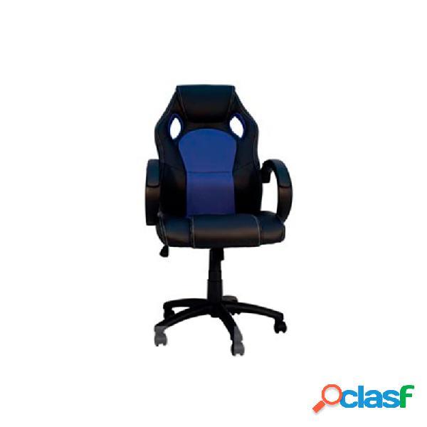 Silla de oficina gaming parallax azul y negro