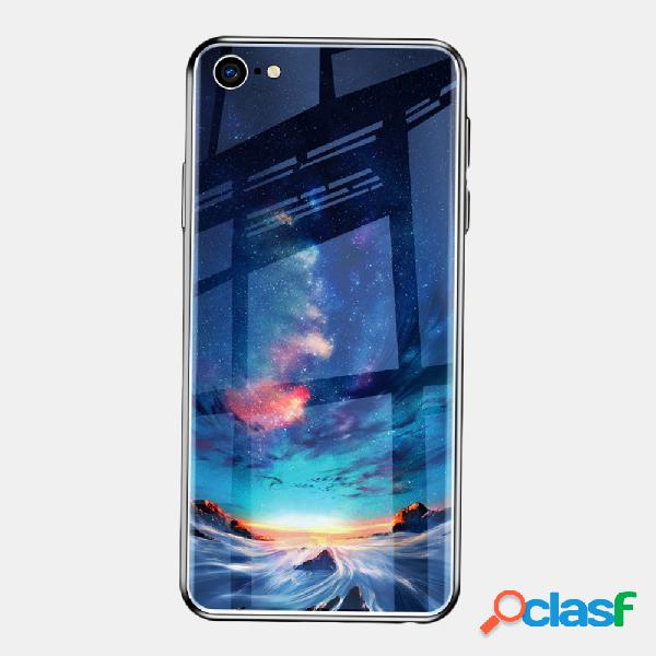 Sky Cristal templado pintado Tpu Soft iPhone Teléfono Caso