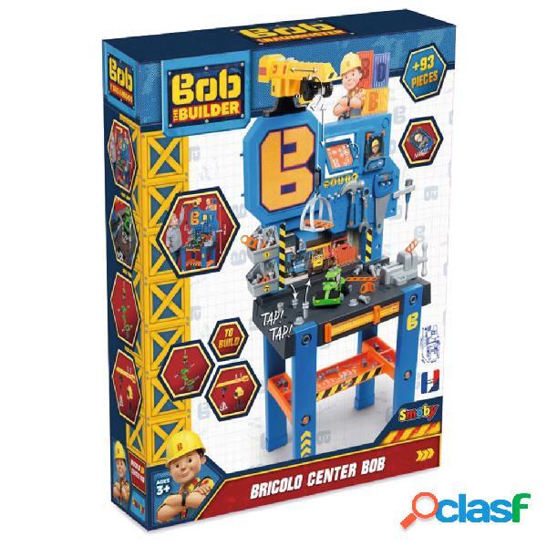 Smoby Banco de trabajo para niños Bob the Builder azul y