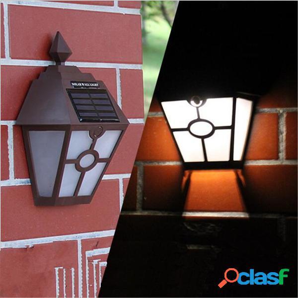 Solar Soporte de luz de pared alimentado LED Valla de
