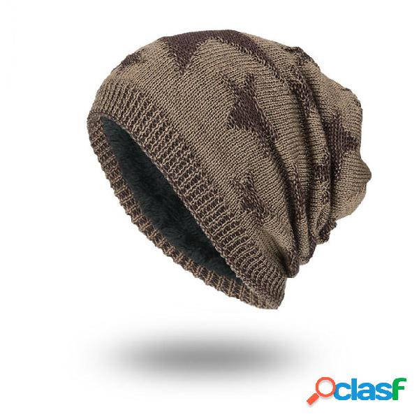 Sombrero Lana de punto Sombrero Temporada Plus Cálida