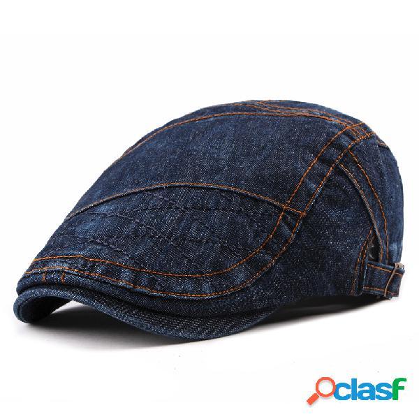Sombrero de algodón de la boina fina lavada de los hombres