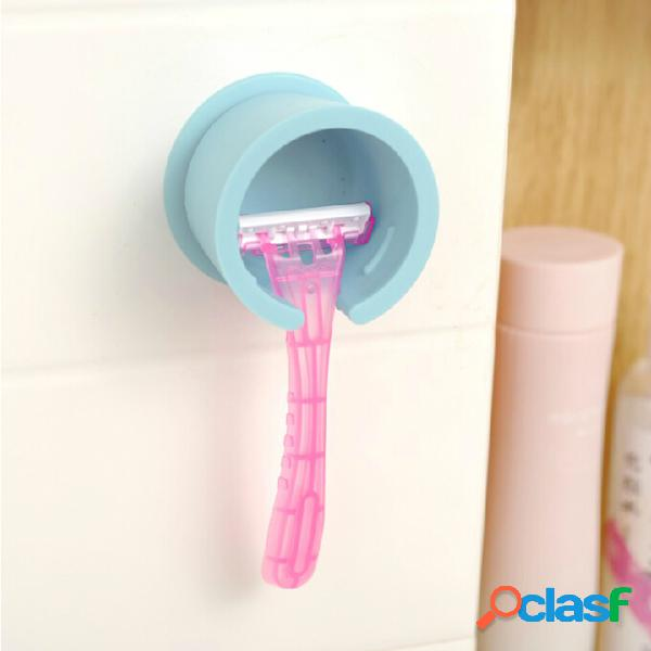 Soporte de la máquina de afeitar de la succión de la pared