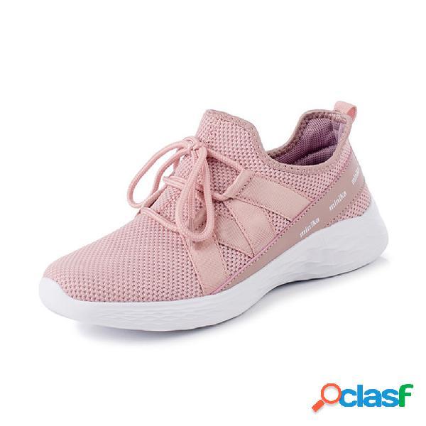 Sport Mesh al aire libre Casual Walking Mujer Zapatos planos