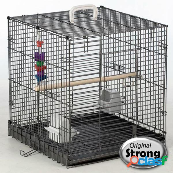Strong Transportín jaula para pájaros Traveller gris