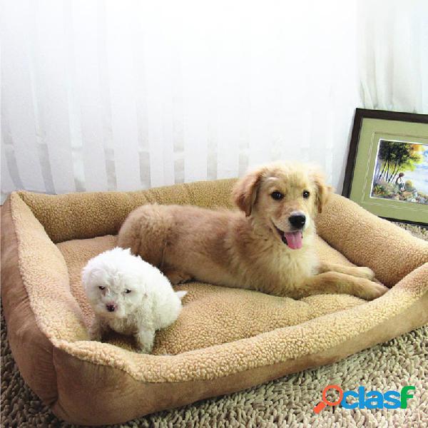 Suede felpa mascota perro sofá cama Perrera cachorro