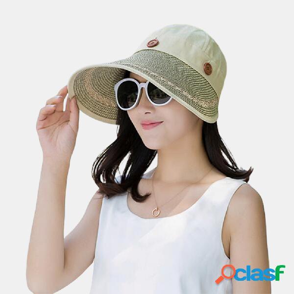 Sun Sombrero Tejido de lona Vacío superior Sun Straw