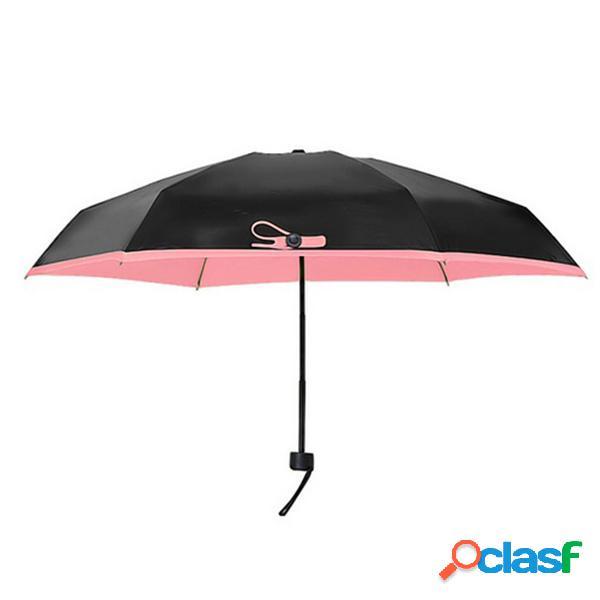 Super Mini paraguas de bolsillo 5 pliegues al aire libre