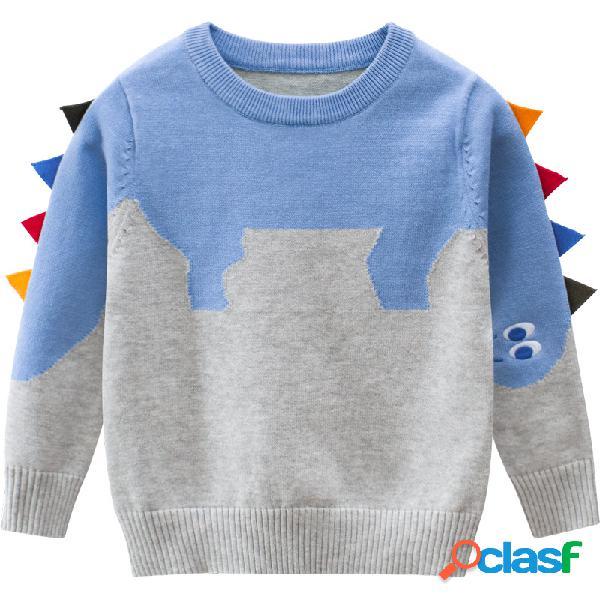 Suéter informal de otoño invierno para niños pequeños y