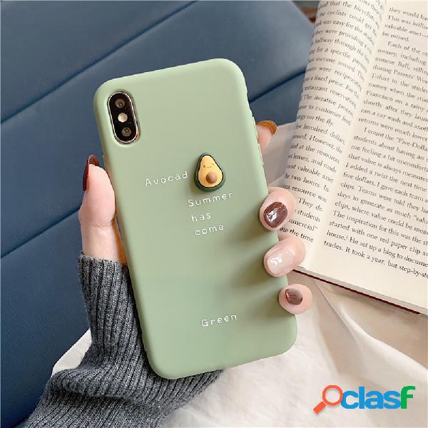 TPU Cute Three-Dimensional Avocado iphone Phone Caso