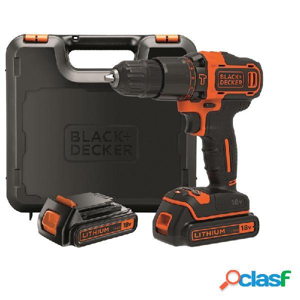 Taladro percutor bateria black and decker bdchd18kb 18 v 1.5