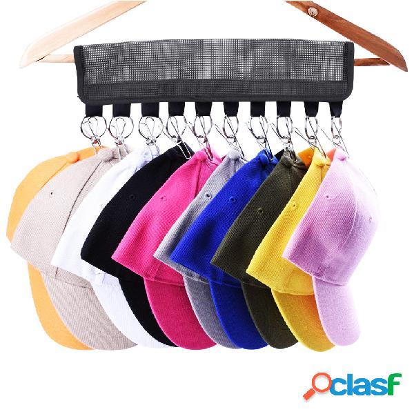Tapa Word Rack de almacenamiento Gancho Sombrero Rack Percha