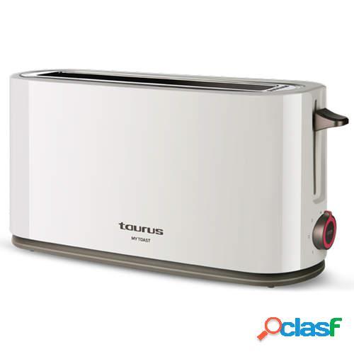 Tostador Taurus My Toast - 1000W, 1 Ranura Larga, 7 Ajustes