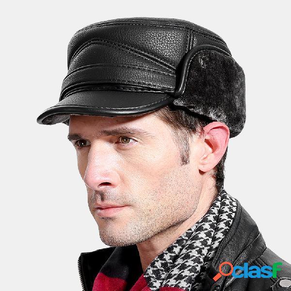 Trampero Sombrero Orejeras gruesas para hombres al aire