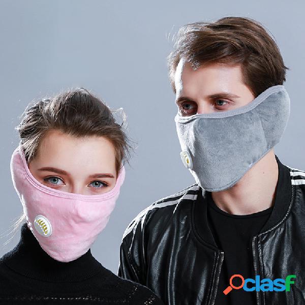 Unisex 2 en 1 Warm Face Mascara Orejeras Protección