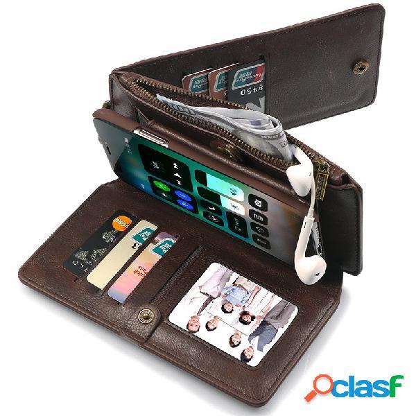 Unisex Color sólido PU + Cartera de cuero Teléfono móvil