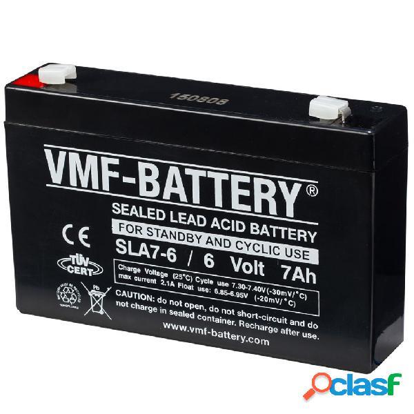 VMF Batería aparatos estáticos cíclicos 6 V 7 Ah SLA7-6