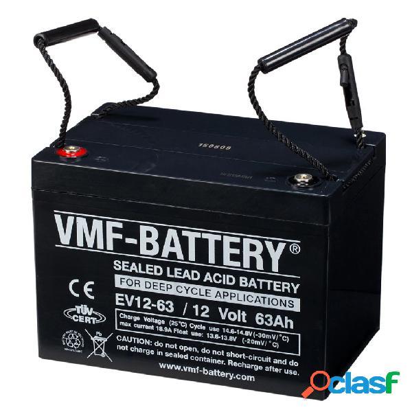 VMF Batería de ciclo profundo AGM EV12-63, 12 V, 63 Ah