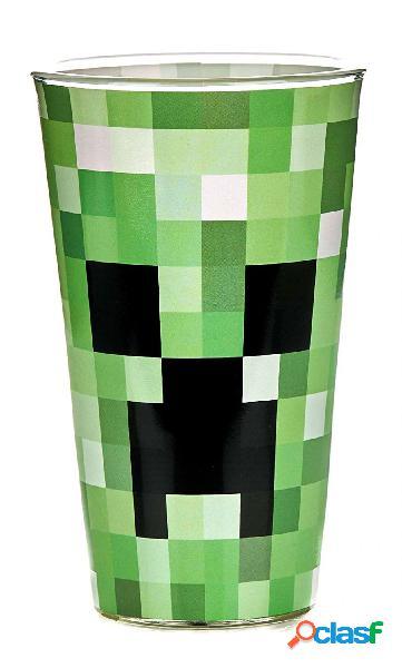 Vaso de vidrio Creeper Minecraft