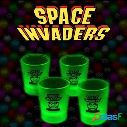 Vasos de chupitos Space Invaders Glow In The Dark