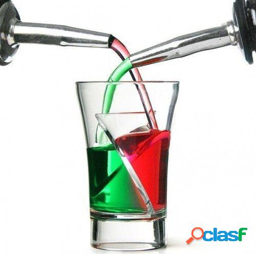 Vasos de chupitos Twister Shots - Doble bebida