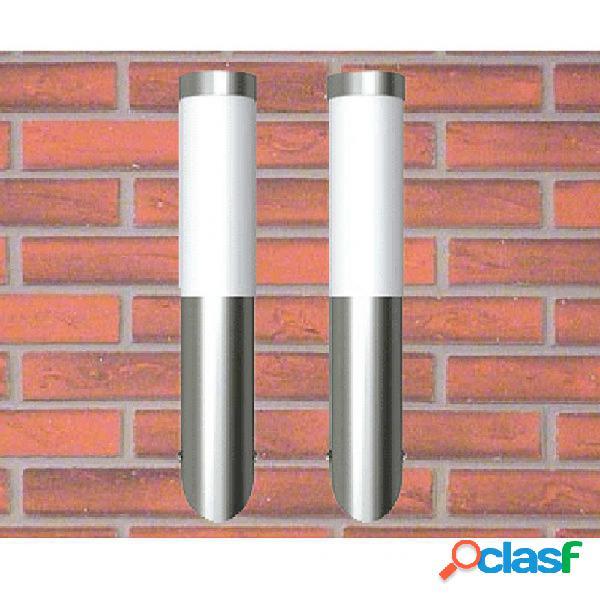 VidaXL - 2 Apliques de exterior, lámparas de pared, 6 x 36