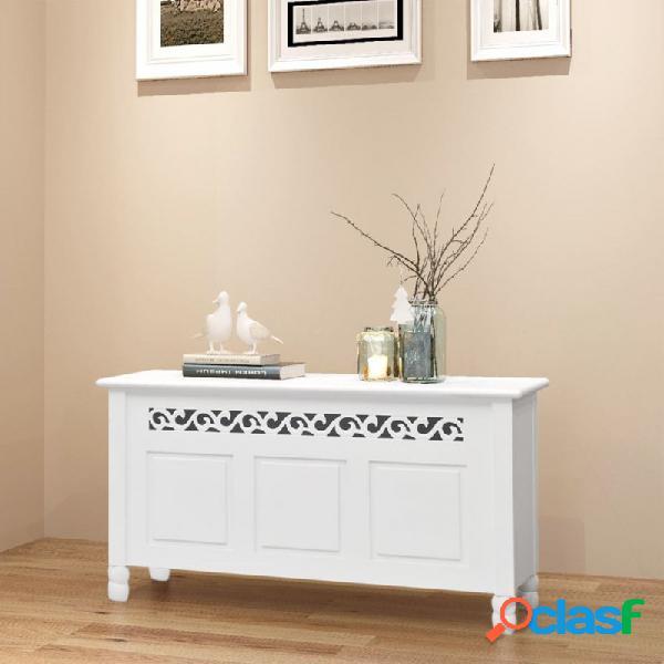 VidaXL - Banco de almacenamiento estilo barrocomDF blanco