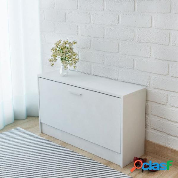VidaXL - Banco zapatero 80x24x45cm blanco Vida XL